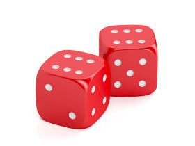 Red, winning dice